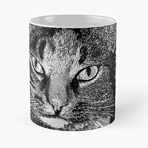 Cat Animals Pen Ink -funny Present For My Greatest Boss Male Or Female, Men, Women, Great Office Gift Mugs, Birthday, Leaving, Bold, Cup, 11 Oz