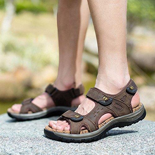 uomo da con da uomo sandali grandi RBB spiaggia dimensioni piatti uomo di caviglie estivi casual scarpe Sandali da da C ZTZ7B