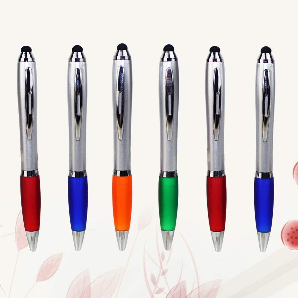 STOBOK 10pcs Stylus Pen Capacitive Portable Touch Screen Ballpoint Touch Screen Pen Writing Pen Universal for Table PC Random Color