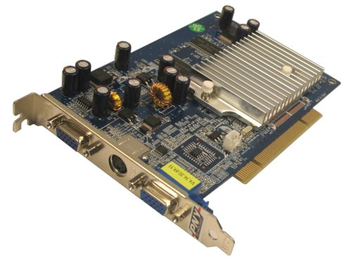 Card Geforce Video 5200 - PNY GeForce FX 5200 PCI 256 MB 2 Port VGA + S-Video Graphics Card VCGFX522PEB - Retail