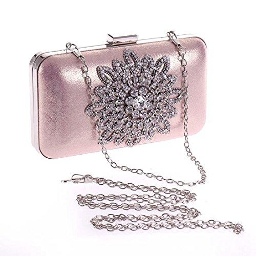 Bag de Sun Moonlight Handbag Bolso Diamond Embrague Party Party Flower Color Pink Black del Flower Noche JESSIEKERVIN IFqBwTxx