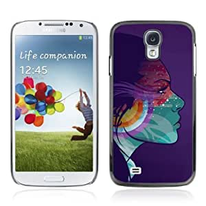 YOYOSHOP [Colorful Girl Psychedelic Illustration] Samsung Galaxy S4 Case WANGJING JINDA