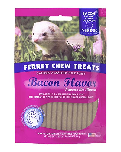 51qH8K36voL - N-Bone 1.87 oz. Ferret Bacon Flavor Chew Treats
