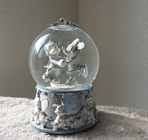 - Disney Mickey Mouse & Minnie Ice Skating Snow Globe ; Special Edition 2002 Collectible Snowflake