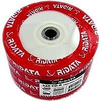 Ritek Ridata 52X CD-R 80 Min 700MB Inkjet White No Stacking Ring - 50 Pack
