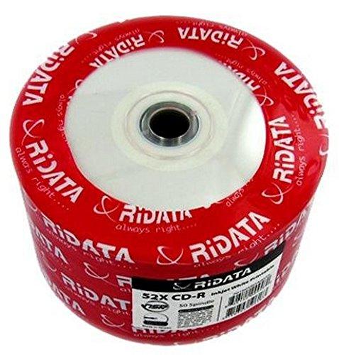 Ritek Ridata 52X CD-R 80 min 700MB inkjet white, no stacking ring - 50 pack