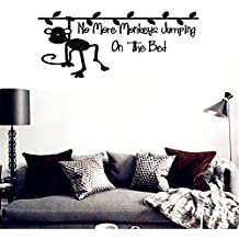 quotes wall stickers Removable Vinyl Art Decal Monkey on the vine No More Monkeys Jumpin' on the Bed!