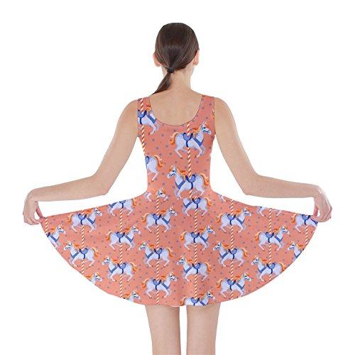 Cowcow Femmes Chevaux Robe Patineur De Motif Taupe