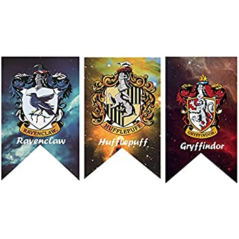 Amazon.com: Banderas de pared de Harry Potter Hogwarts para ...