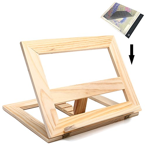 Wooden Stander for Light Pad of Diamond Painting, Particular Design for A4 LED Light Pad Box Board Tablet of DIY 5D Diamond Painting Kits for Adults, Relieve Stiff Neck Pain by SZLTZK