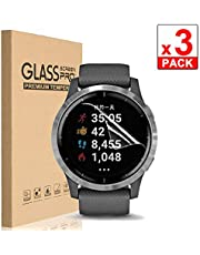 [3 Pack] for Garmin Vivoactive 4 TPU LCD Screen Protector Guard Film Activity Tracker No Bubbling Scratch Resistant Full Edge to Edge Coverage Screen Covers for Garmin Vivoactive 4 Smartwatch