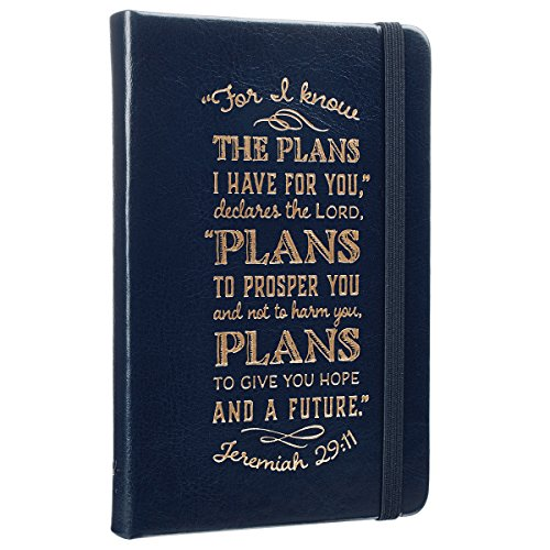 (I Know The Plans Hardcover LuxLeather Notebook with Elastic Closure in Cobalt Blue - Jeremiah 29:11 Pocket Journal / Notebook - Jeremiah)