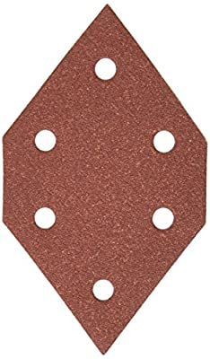 PORTER-CABLE 767601205 120 Grit Diamond-Shaped Hook & Loop Profile Sanding Sheets (5-Pack)