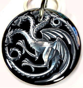 Amazon com : Game of Thrones Pet ID Tag Dog Tag Targaryen Dragon