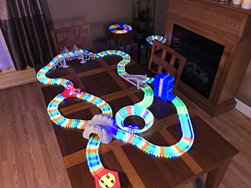 Bend A Path Glow-in-the-Dark Car and Track (Glow In The Dark Race)