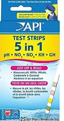5 in 1 pH Test Strips Saltwater Freswater PH Nitrites Gh Kh 25pcs Easy Read
