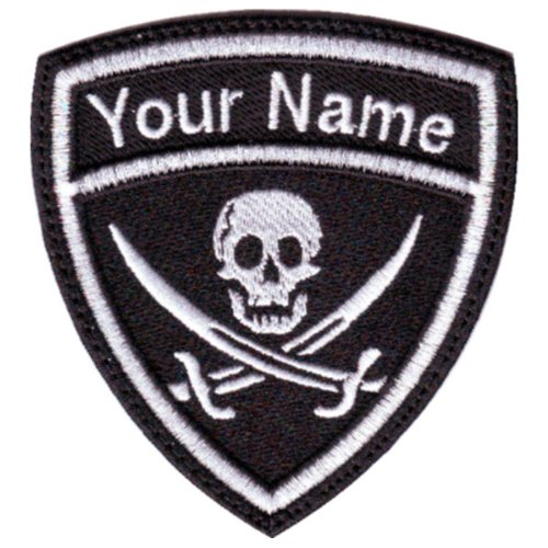 Embroidered Pirate - Pirates Custom Crest Flag Name Embroidered Sew On Patch