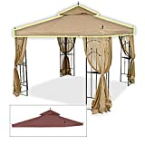 Replacement Canopy for Home Depot's Arrow Gazebo - Rip Lock - Nutmeg