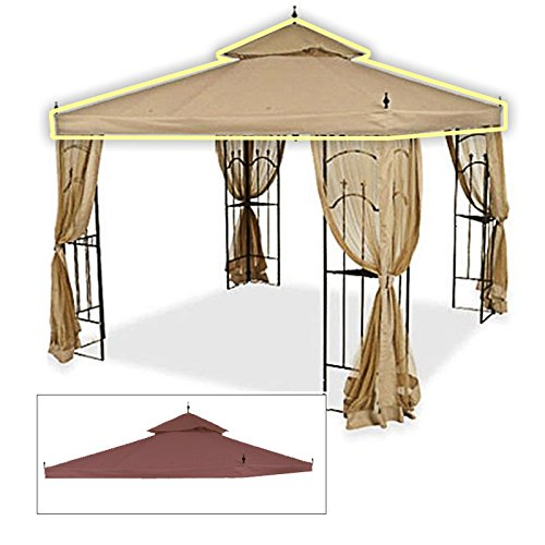 Cheap Replacement Canopy for Home Depot's Arrow Gazebo – Rip Lock – Nutmeg