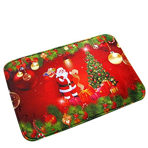 Non-slip Bath Toilet Mat Christmas Gift - Area Rugs Carpet Doormat Floor Mat - Absorbent Mats Bathroom Rug Bedroom Living Room Kitchen, Bed, Car Seat, Sofa Cushion Non-slip Foot Pad Rug 16x28inch (Christmas Ultra-absorbent Mat Tree)