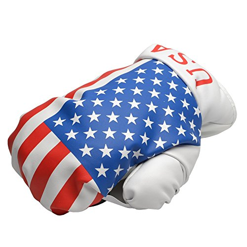 COOLSKY USA/UK Flag Pattern Boxing Glove Golf Head Cover Fairway Wood Hybrids Club - Headcovers Club Wood Glove