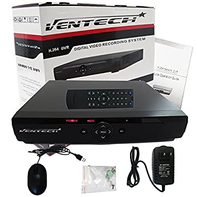 DVR 16 Channel Ventech Full 960H h.264 Surveillance recorder Security Systems HDMI Output QR Code Super Easy Set Up Push Alerts on Cell Phones & Free App (NO Hard Drive ) from VENTECH SECURITY