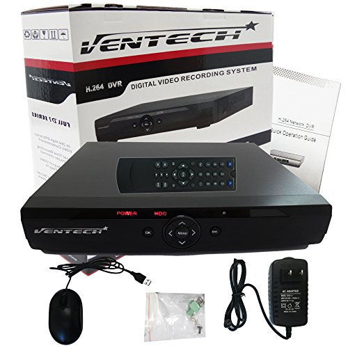 DVR 16 Channel Ventech Full 960H h.264 Surveillance recorder Security Systems HDMI Output QR Code Super Easy Set Up Push Alerts on Cell Phones & Free App (NO Hard Drive ) by VENTECH