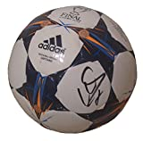 Atletico Madrid David Villa Autographed Hand Signed 2014 UEFA Champions League Lisbon Final Logo Soccer Ball with Proof Photo, Spain, Espana, COA