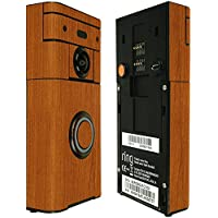 Skinomi TechSkin - Ring Video Doorbell Screen Protector (Wi-Fi Enabled) + Light Wood Full Body Skin / Front & Back Wrap Clear Film / Ultra HD and Anti-Bubble Shield