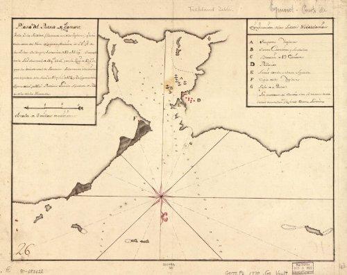 Map Poster - Plano del Puerto de Egmont en la Isla Falklan (llamada avi de los Ingleses) qe. esta en la costa del norte de la Gran Mal 17
