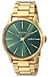Nixon Sentry SS A3561919-00. Gold/Green Sunray Men's Watch (42mm Gold/Green Sunray Watch Case. 23-20mm Gold Band)