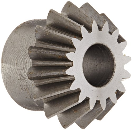 Boston Gear L149Y-P Bevel Pinion Gear, 2:1 Ratio, 0.375'' Bore, 16 Pitch, 16 Teeth, 20 Degree Pressure Angle, Straight Bevel, Steel by Boston Gear