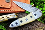 DKC-29 STING 7″Long, 4″ Folded 6oz Damascus Pocket Folding Knife DKC Knives ™ Hand Made For Sale