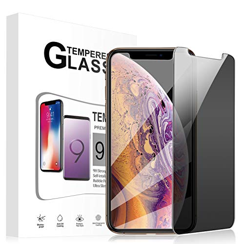 Foval Privacy Tempered Glass Screen Protector Compatible for iPhone Xs Max 6.5inch