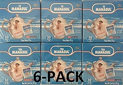 Manasul Tea 50's 6-PACK (300 Total Tea Bags) Te Manasul
