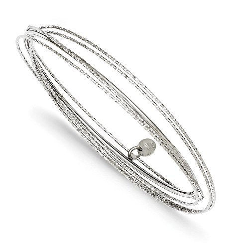 Argent Sterling Rhodium plaqué taille diamant Bracelet JewelryWeb Intertwined