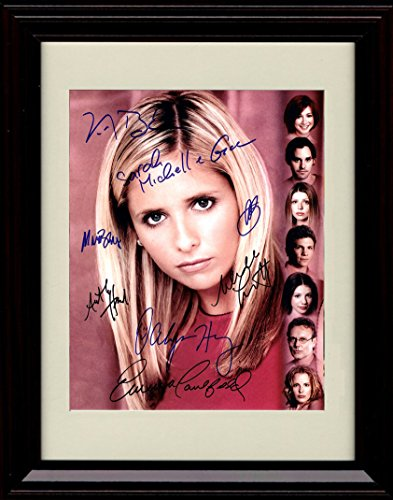Framed Buffy The Vampire Slayer Autograph Replica Print - Cast of Buffy The Vampire Slayer