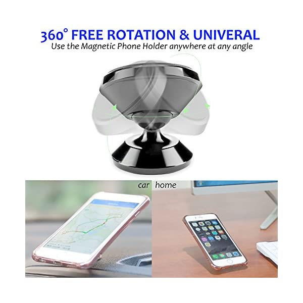 Magnetic Cell Phone Holder For Car Dashboard SALEX Universal 360 Degree Adjustable Rotation Hands Free Mount For Mobile Phones Tablets And GPS IPhone X88 Plus IPad Samsung Galaxy S8S8Note8