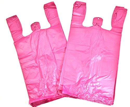 Plastic Bag Plain Embossed T-Shirt Bag 11.5''x6.5''x 21.5'' 13 mic - 1000 bags/case (6000, Burgandy) by LOOP-BAGS (Image #1)