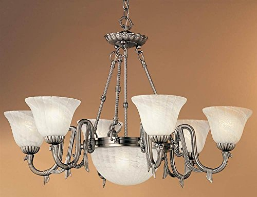 St. Moritz 8-Light Chandelier in Pewter (Iron Pewter Chandelier)