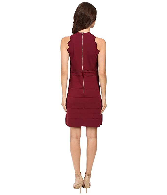 9b23821b3 Ted Baker Women s Natleah Scallop Detailed Dress Oxblood Dress  Amazon.ca   Clothing   Accessories