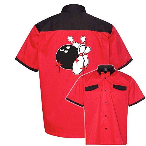 Pin Splash C Stock Print on Anchor Man Bowling Shirt (Classic Bowling Shirt)