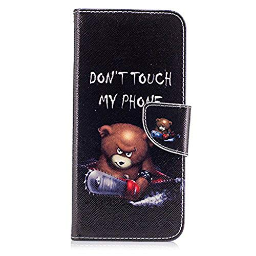 Galaxy S8 Plus Wallet Case, Easytop Folio Style Stand Feature Samsung Galaxy S8+ / S8 plus Card Case (2017) Premium PU Leather Protective Flip Cover w/ Card Slot Side Pocket Magnetic (Chainsaw Bear)