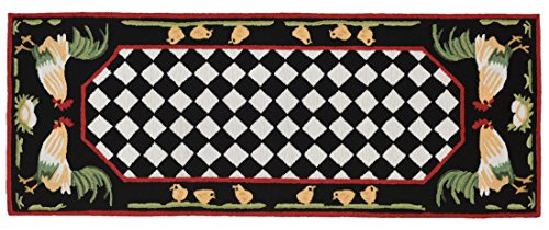 (KensingtonRow Home Collection Area Rugs - French Country Rooster Indoor Outdoor Rug - 24
