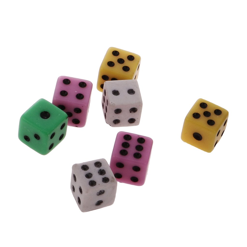 Magician High Cap Flat Black Hat Dice Changes Into Eight Mini Colorful Dice