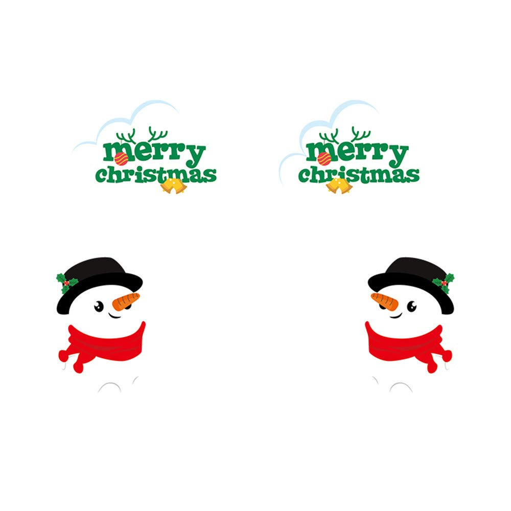 Sannysis Merry Christmas, 2019 Merry Christmas Household Room Wall Sticker Mural Decor Decal Removable