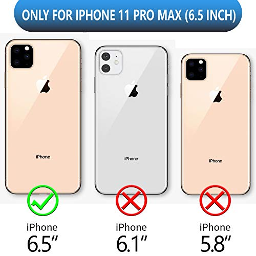SPIDERCASE for iPhone 11 Pro Max Case, Built-in Screen Protector Full Heavy Duty Protection Shockproof Anti-Scratched…