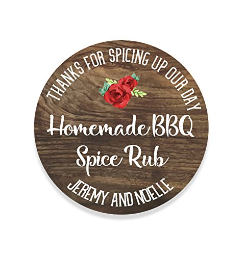 custom rustic wedding bbq spice rub labels wedding favor stickers coffee favor wedding