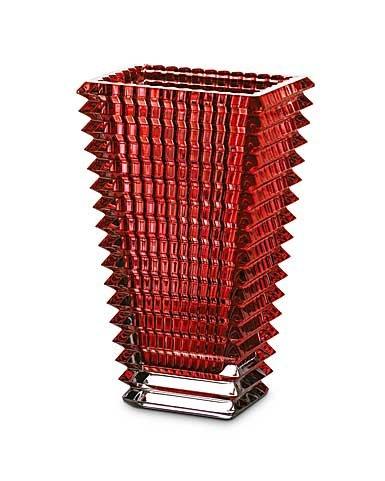 Baccarat Eye Red Tall Rectangular Vase (Red Rectangular Vases)