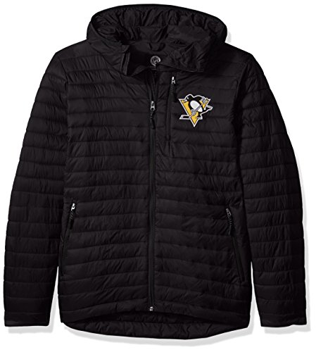 G-III Sports NHL Pittsburgh Penguins Men's Equator Quilted Jacket, Large, Black (G-iii Mens Jacket)